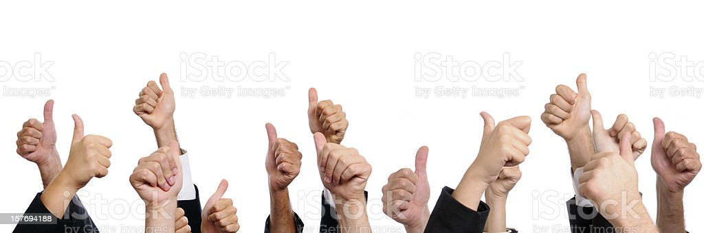 Business Persons Showing Thumbs Up.Copy Space stock photo
