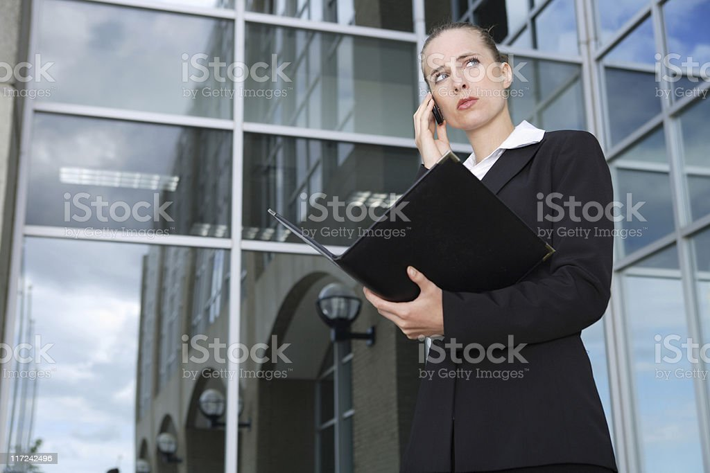 Business phone call royalty-free stock photo