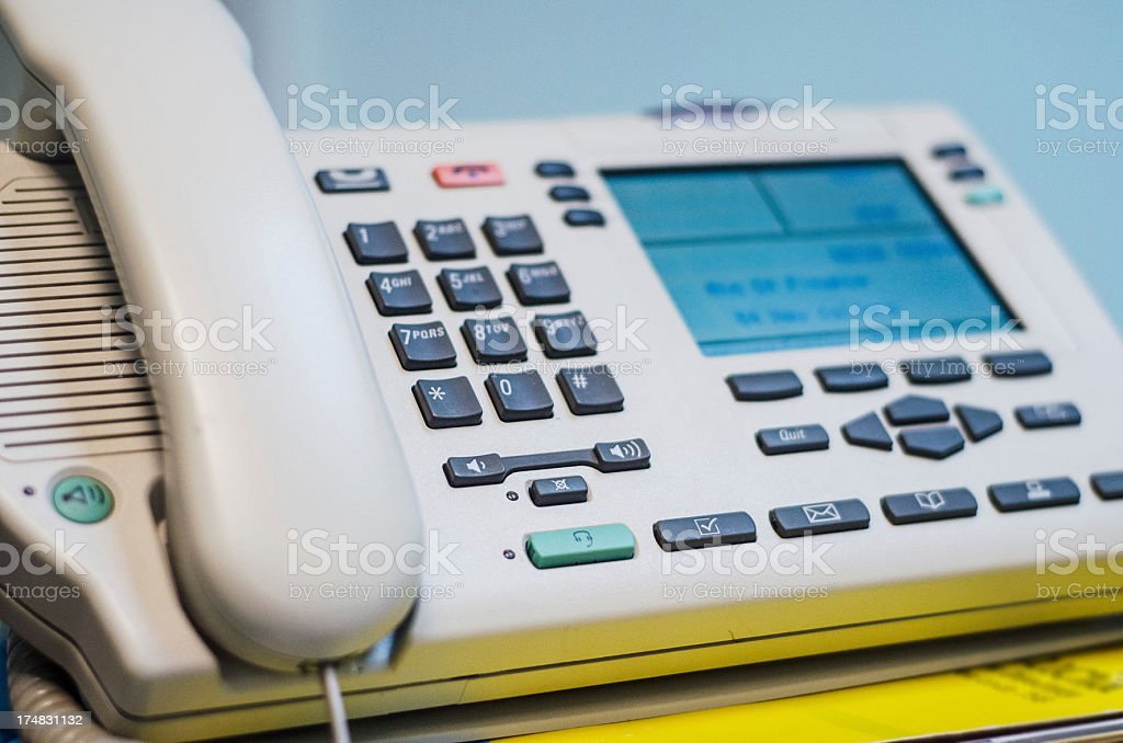 PBX business phone close up royalty-free stock photo