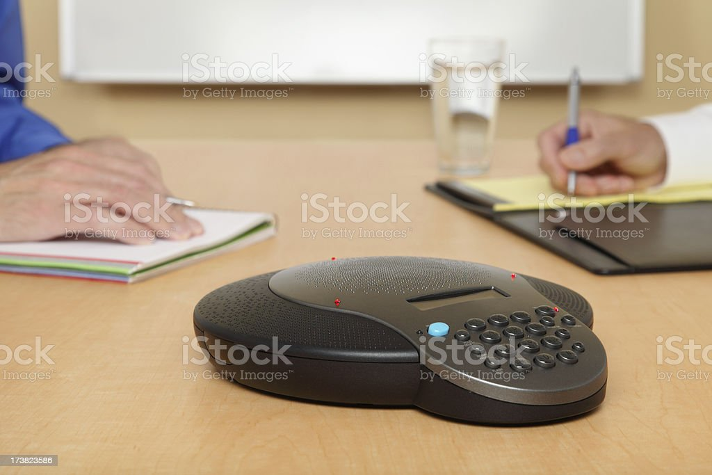 Business Phone Conference stock photo