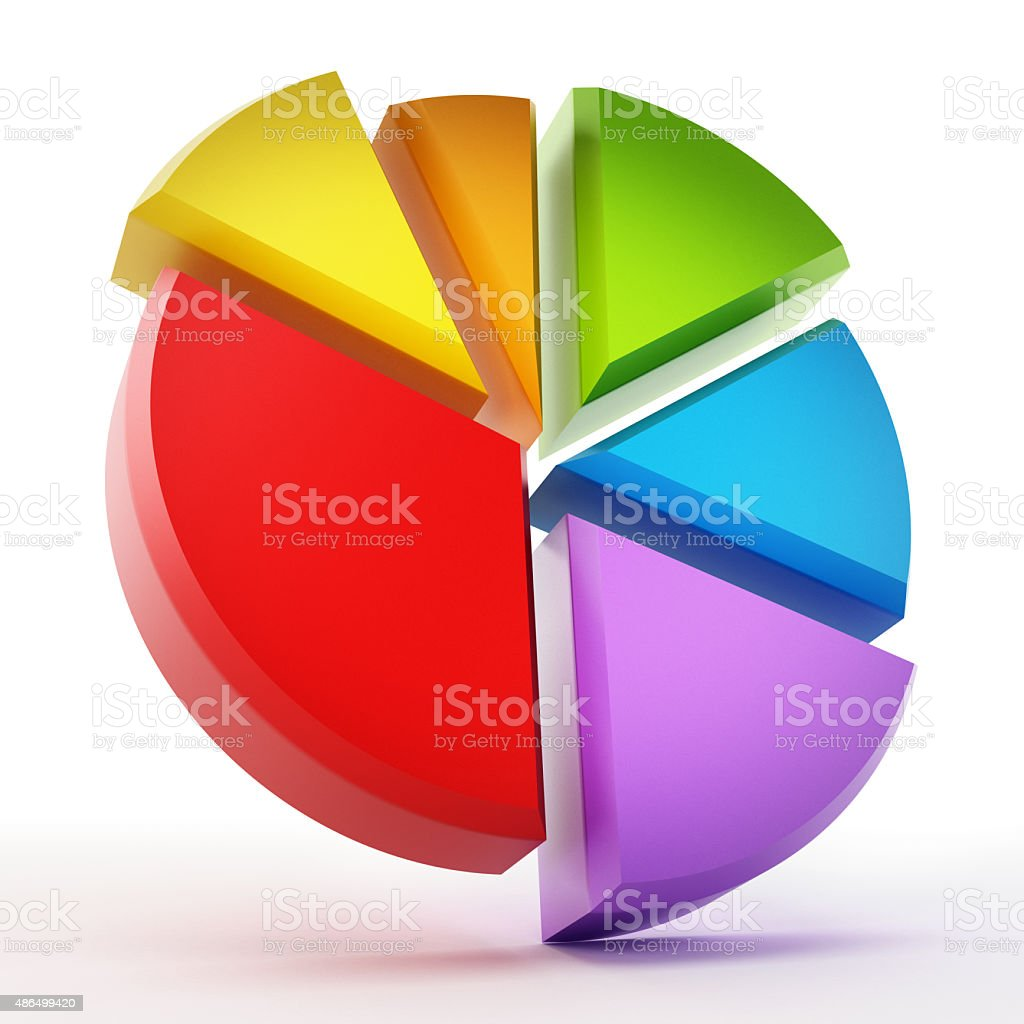 Business pie chart vector art illustration