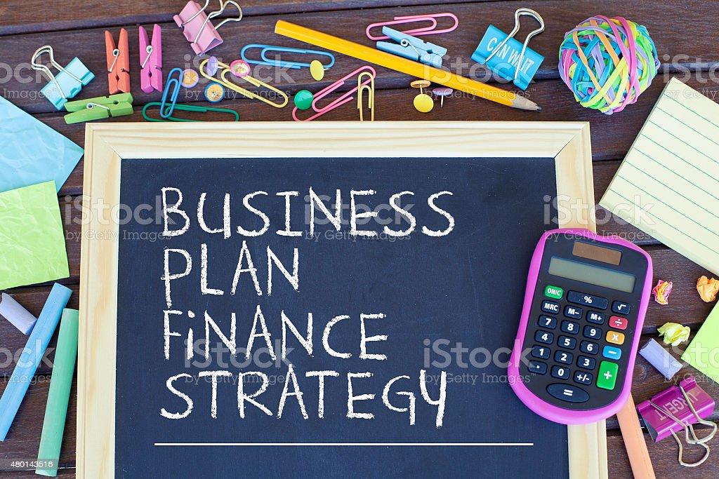 Business Plan Finance Strategy stock photo