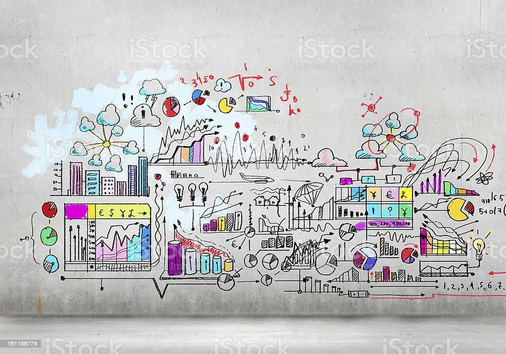 Business plan image stock photo