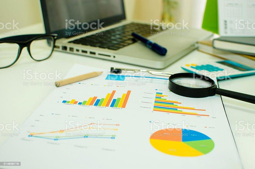 Business plan marketting stock photo