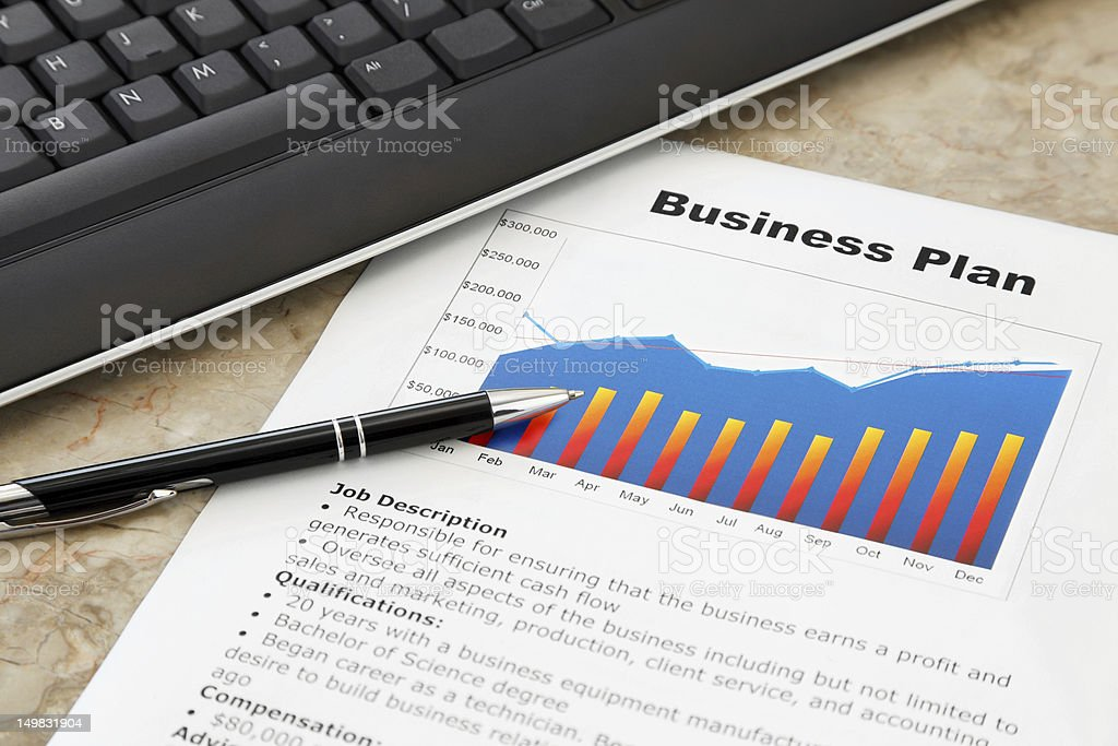Business Plan on the Table royalty-free stock photo