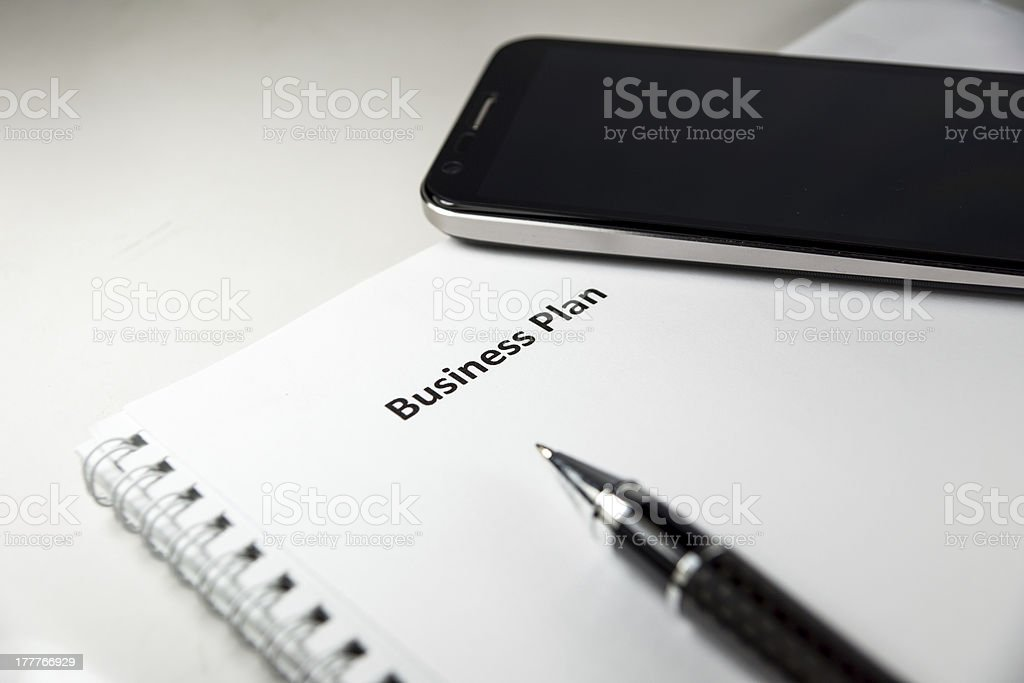 business plan royalty-free stock photo