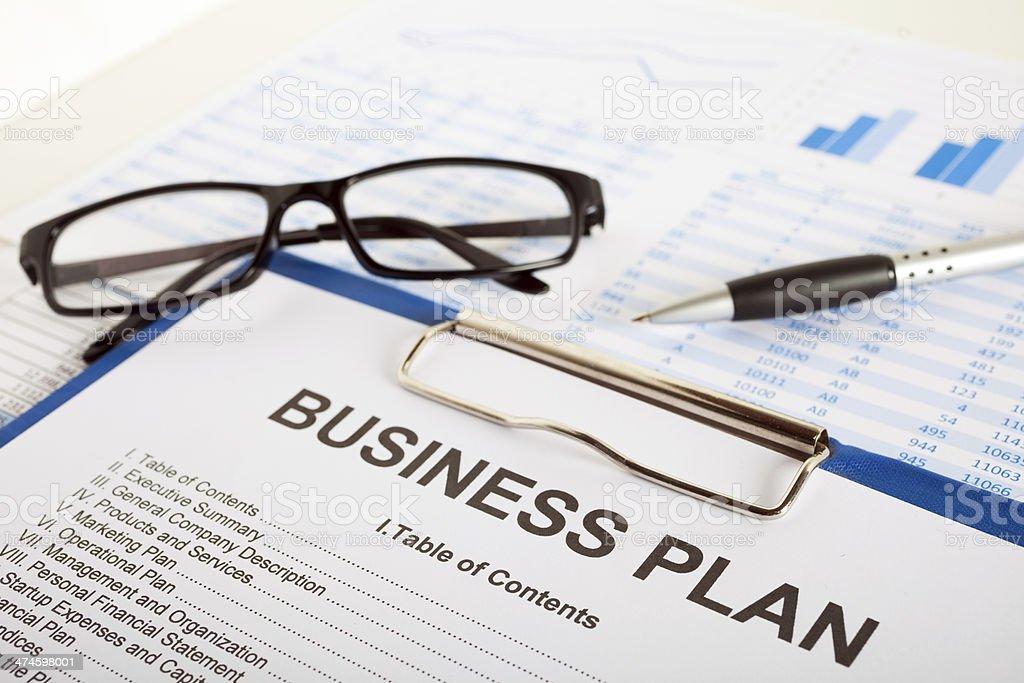 Business plan stock photo