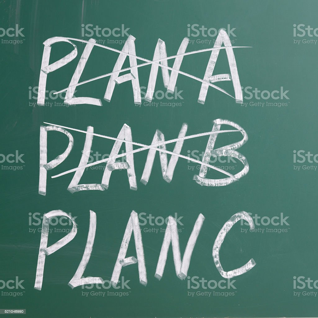 Business plan strategy changing stock photo