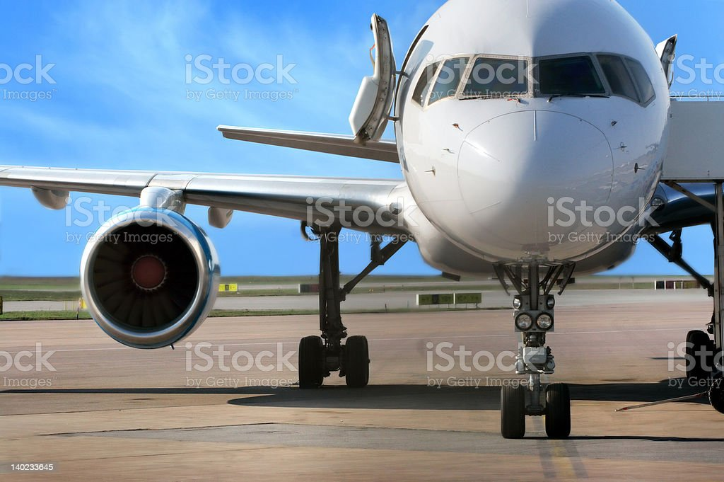 business plane royalty-free stock photo
