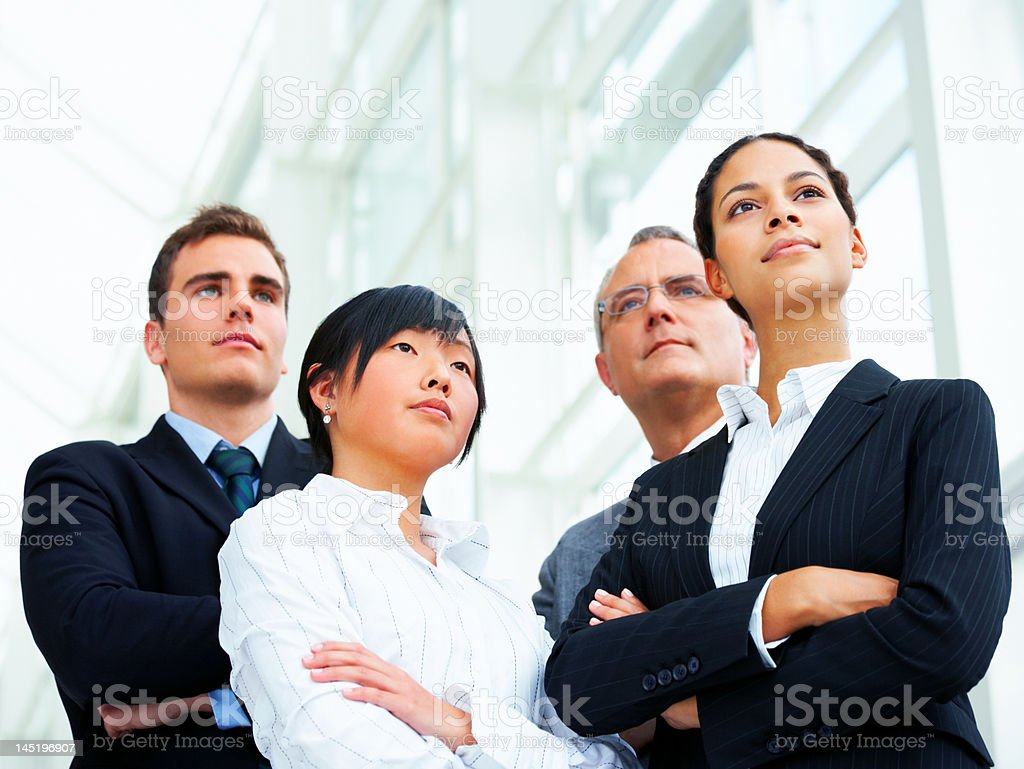 Business poeple with their arms crossed royalty-free stock photo