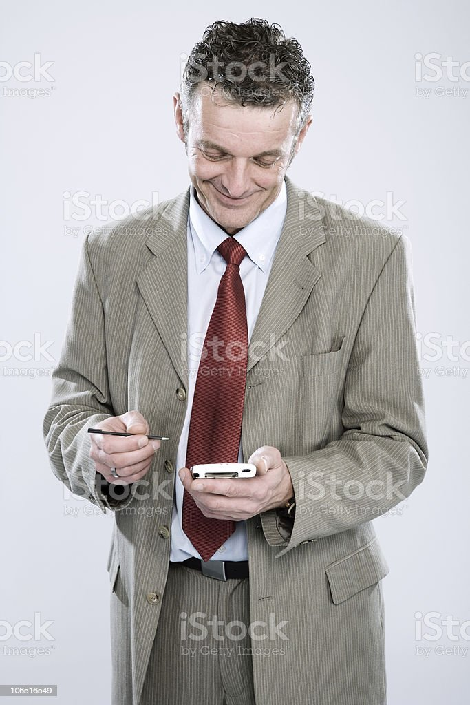 Business Portrait - PDA royalty-free stock photo