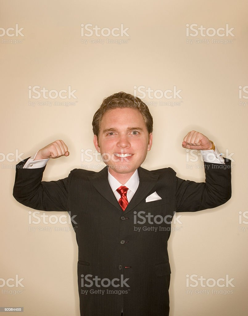 Business power pose 2 royalty-free stock photo