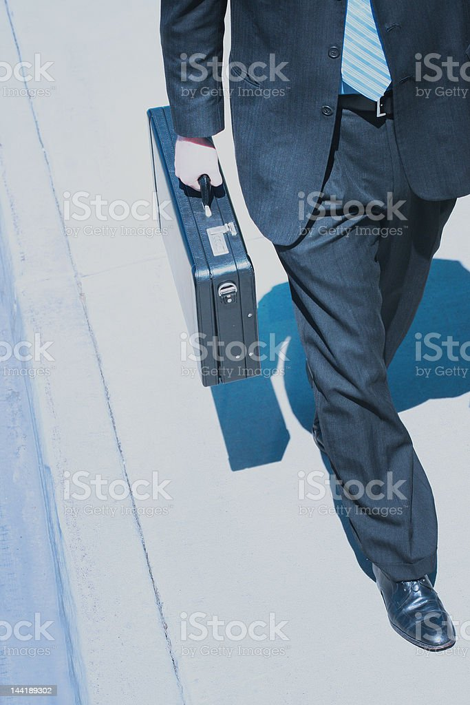 Business power walk stock photo