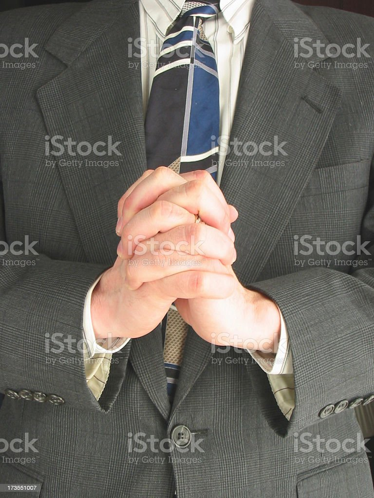 Business - Prayer 1 royalty-free stock photo