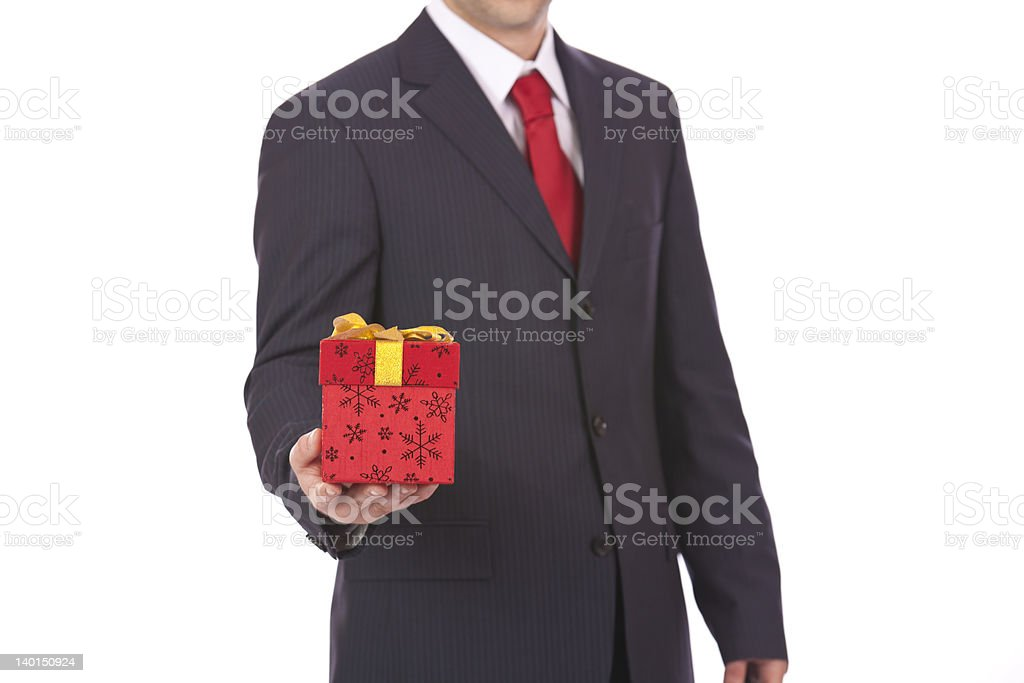 Business present royalty-free stock photo