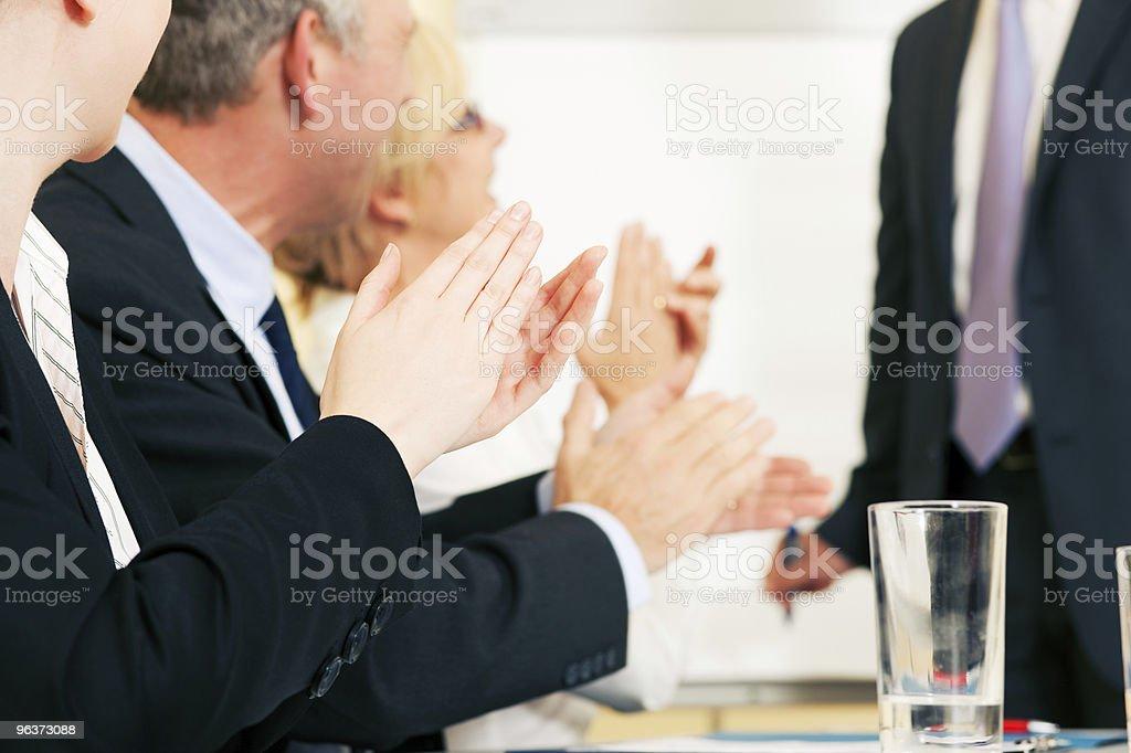 Business presentation applause stock photo