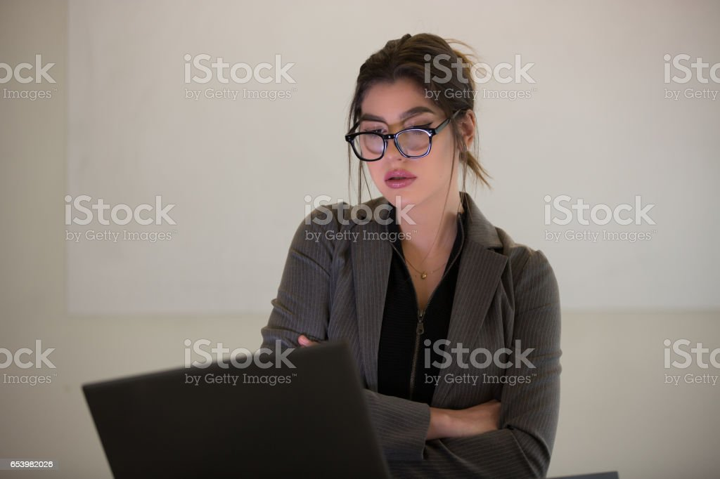 Business Presentation - Female stock photo