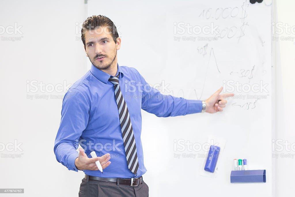 Business-Präsentation auf Firmenmeetings. Lizenzfreies stock-foto
