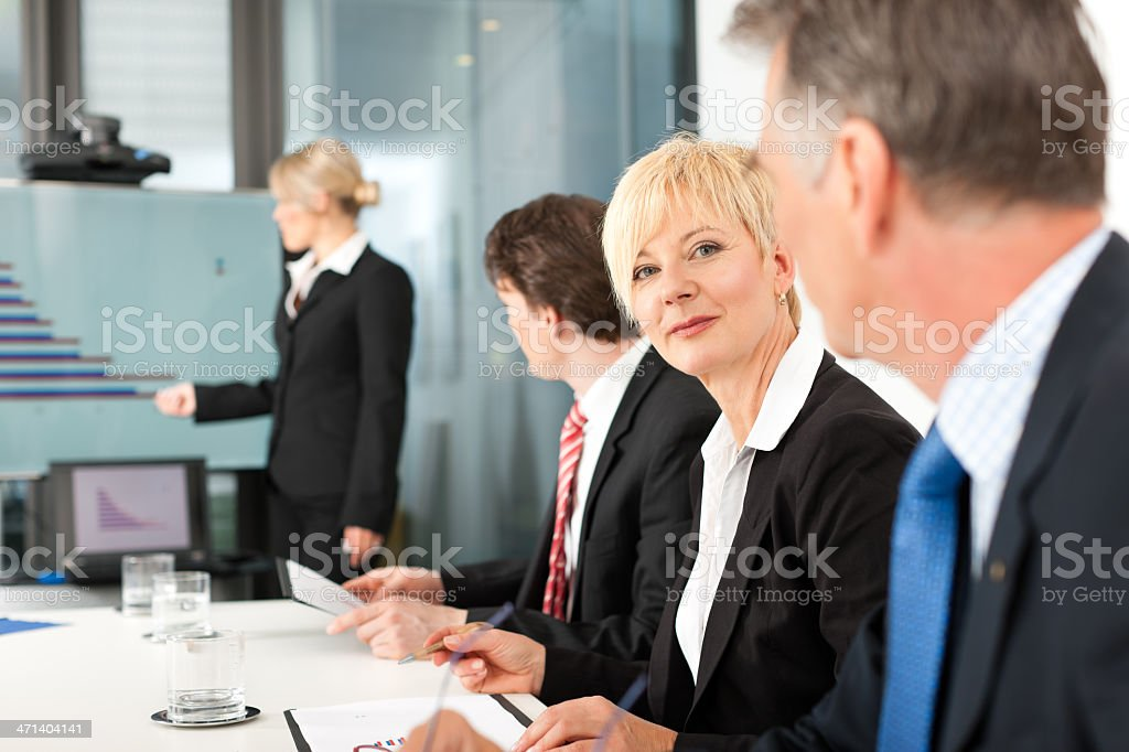 Business - presentation within a team royalty-free stock photo