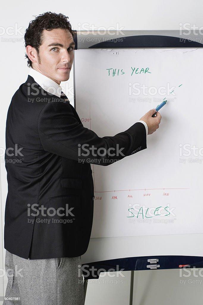 Business Presenter royalty-free stock photo
