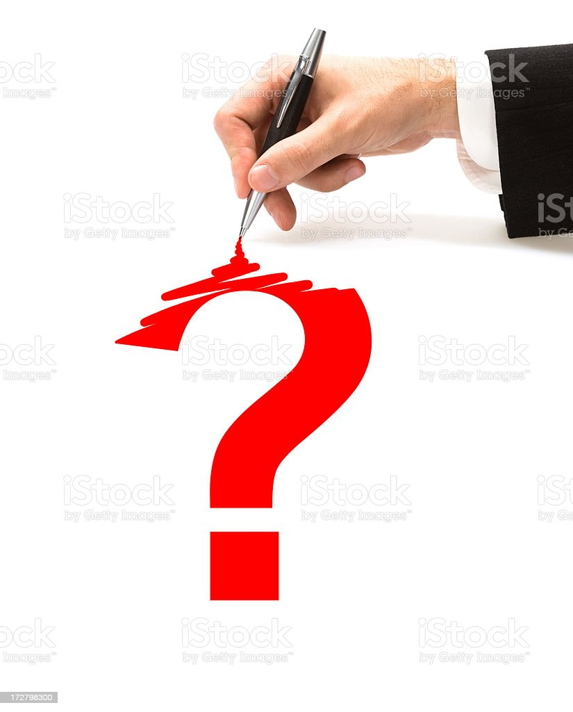 business problems or question and help symbol royalty-free stock photo