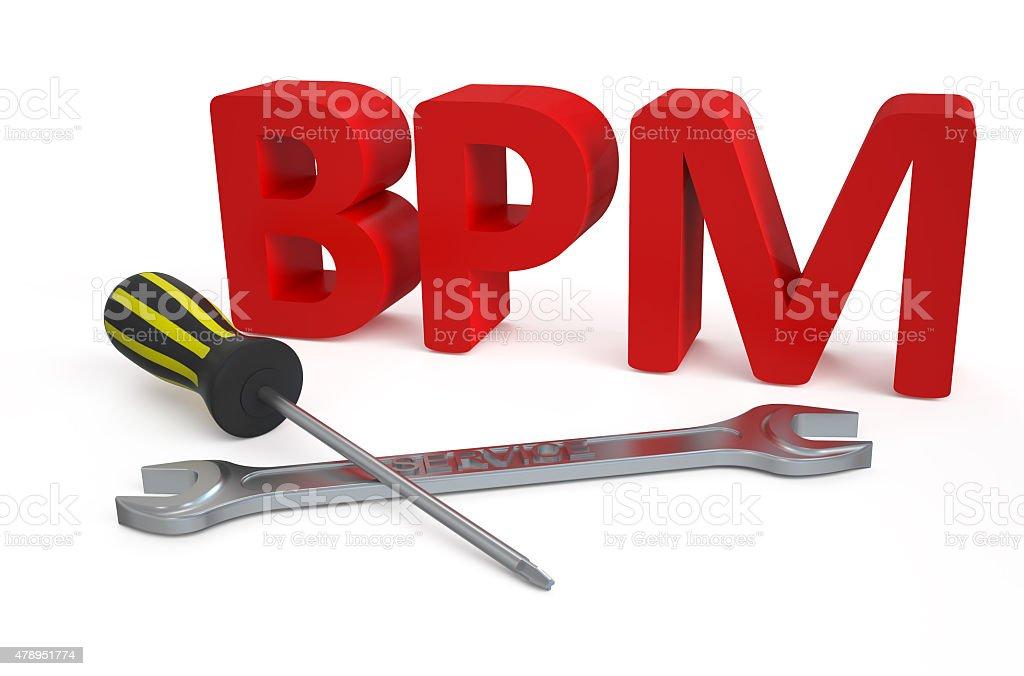 Business process management (BPM) service concept stock photo