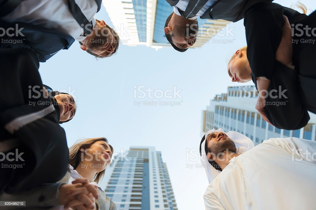 Business professionals in Middle East stock photo