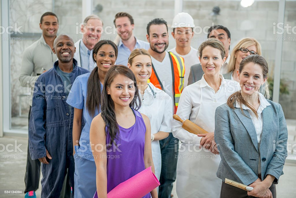 Business Professionals Standing Together stock photo