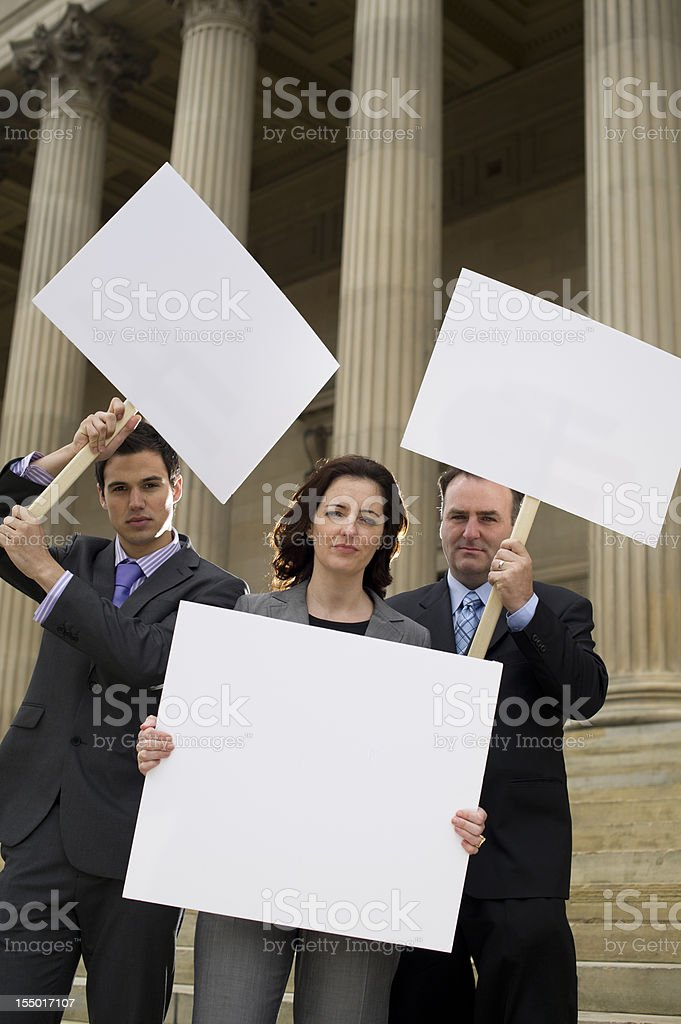 business protest royalty-free stock photo