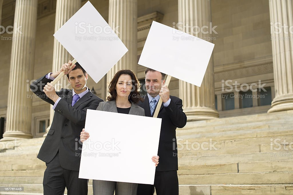 business protest stock photo