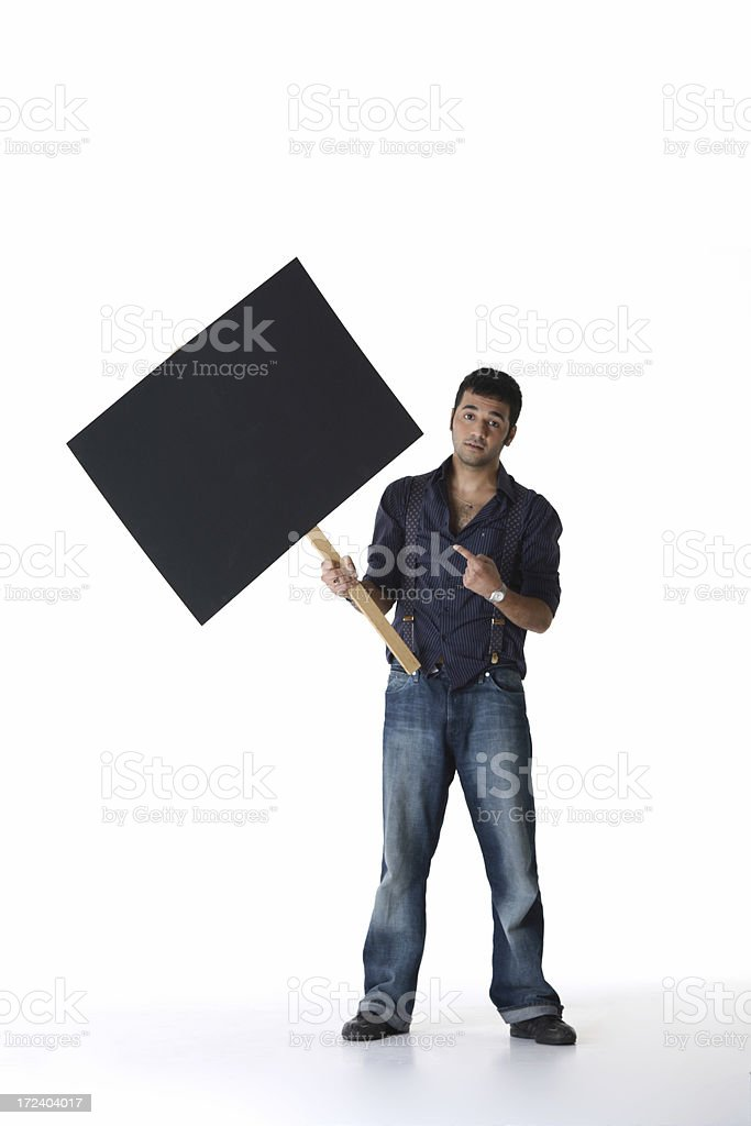 Business Protest - Space For Writing royalty-free stock photo