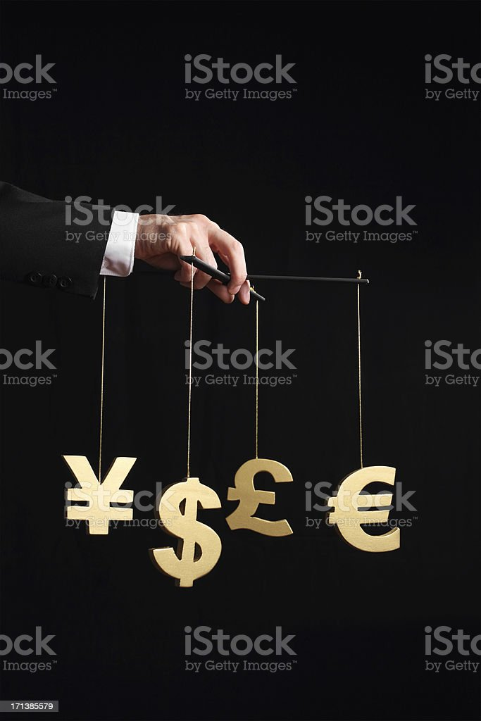 Business Puppeteer stock photo