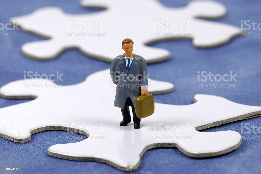 Business Puzzle royalty-free stock photo