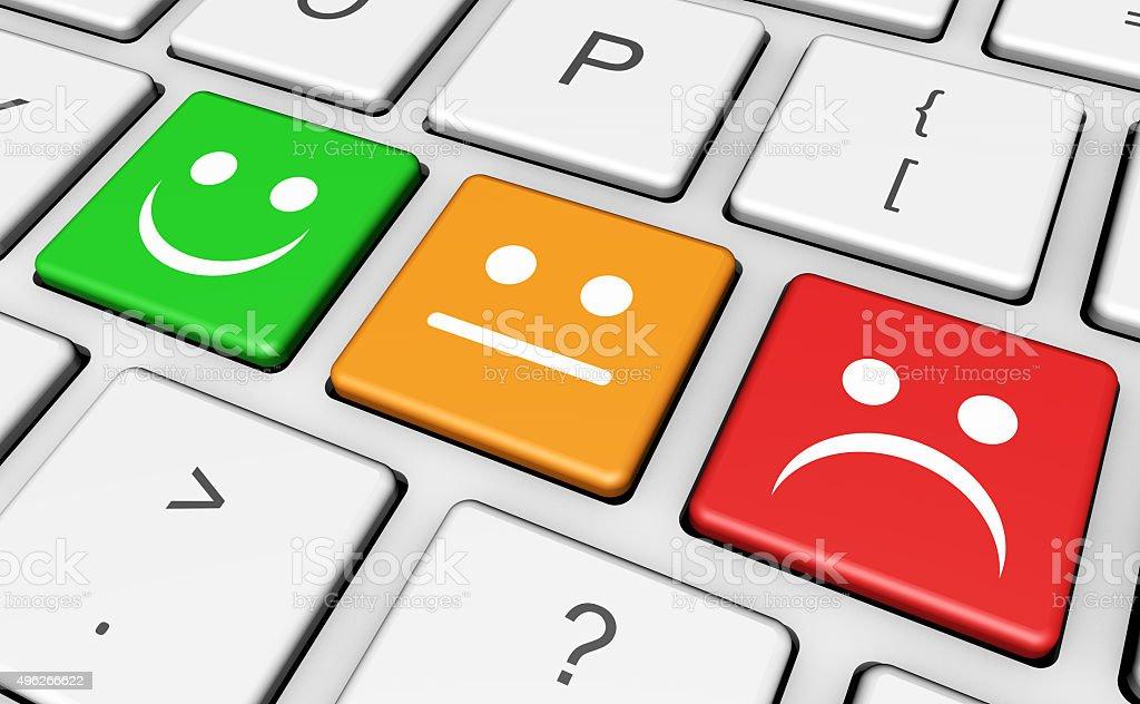 Business Quality Customer Feedback Keyboard stock photo