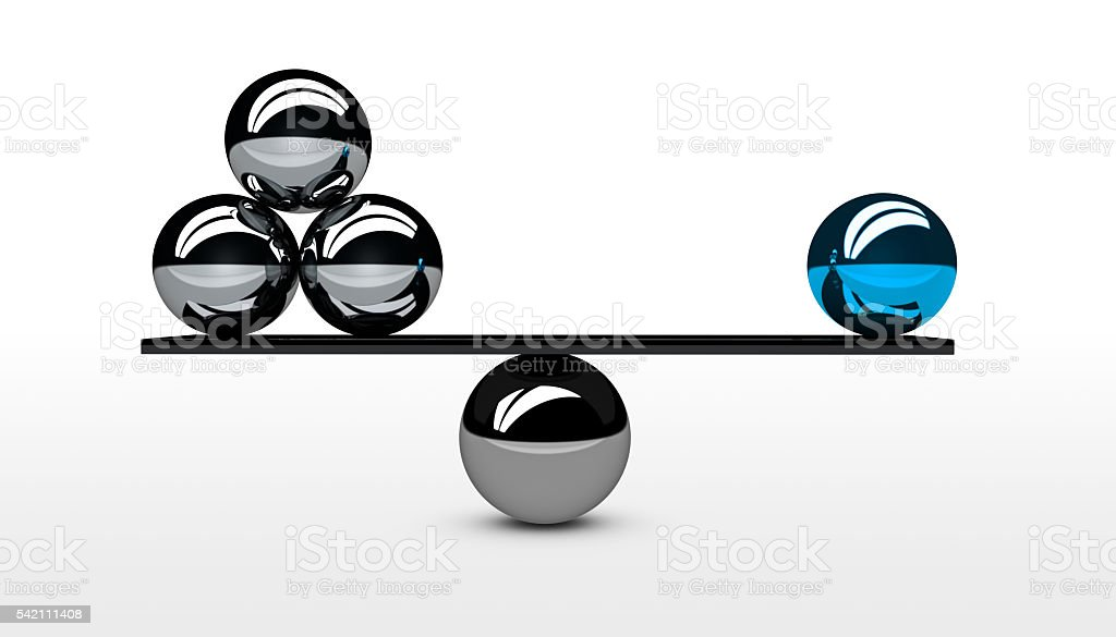 Business Quality Vs Quantity Concept stock photo