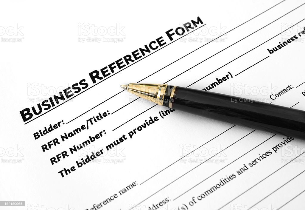 Business reference form stock photo