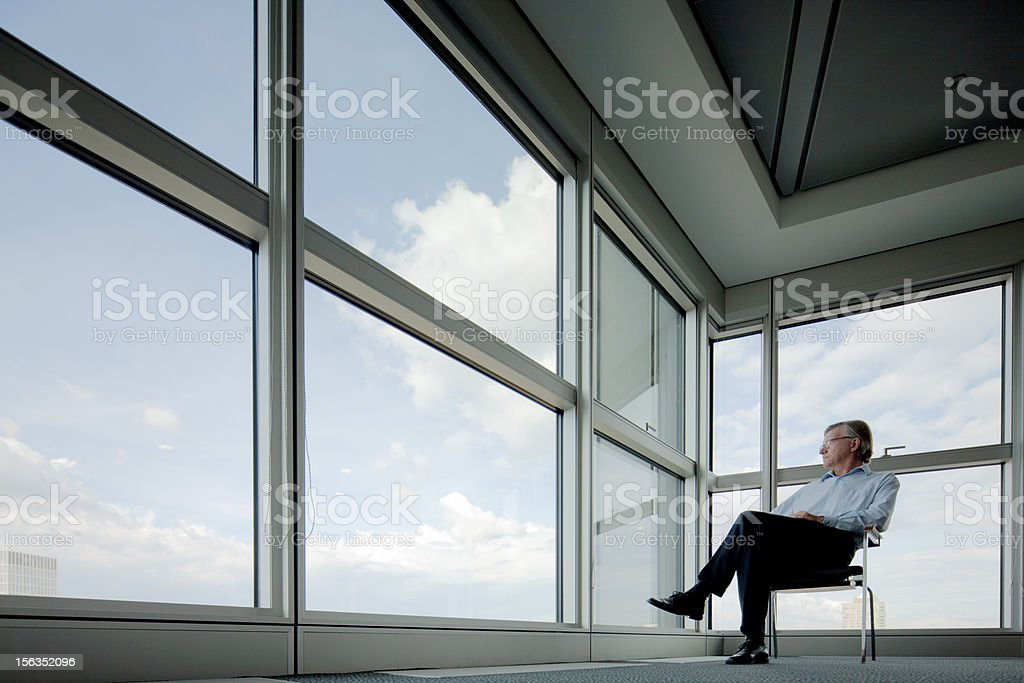 Business reflection stock photo