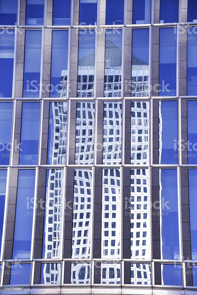 Business reflection royalty-free stock photo