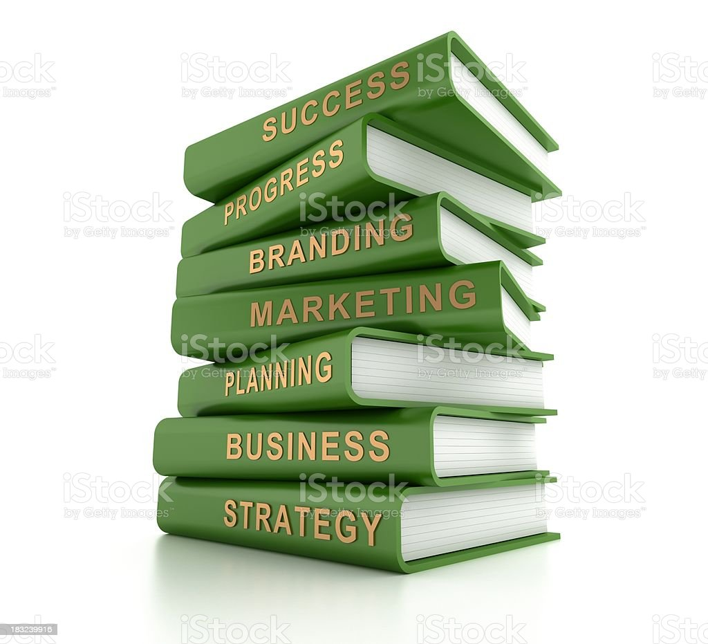 Business related books royalty-free stock photo