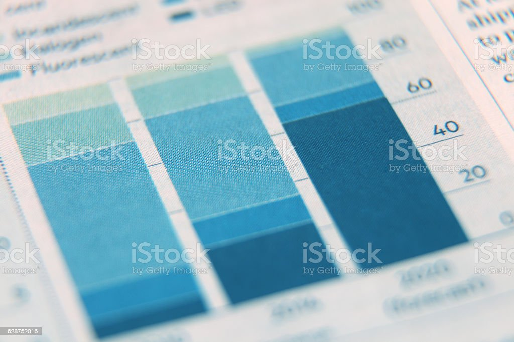 Business report graph stock photo