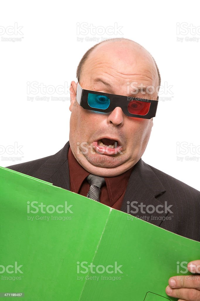 3D Business Report royalty-free stock photo