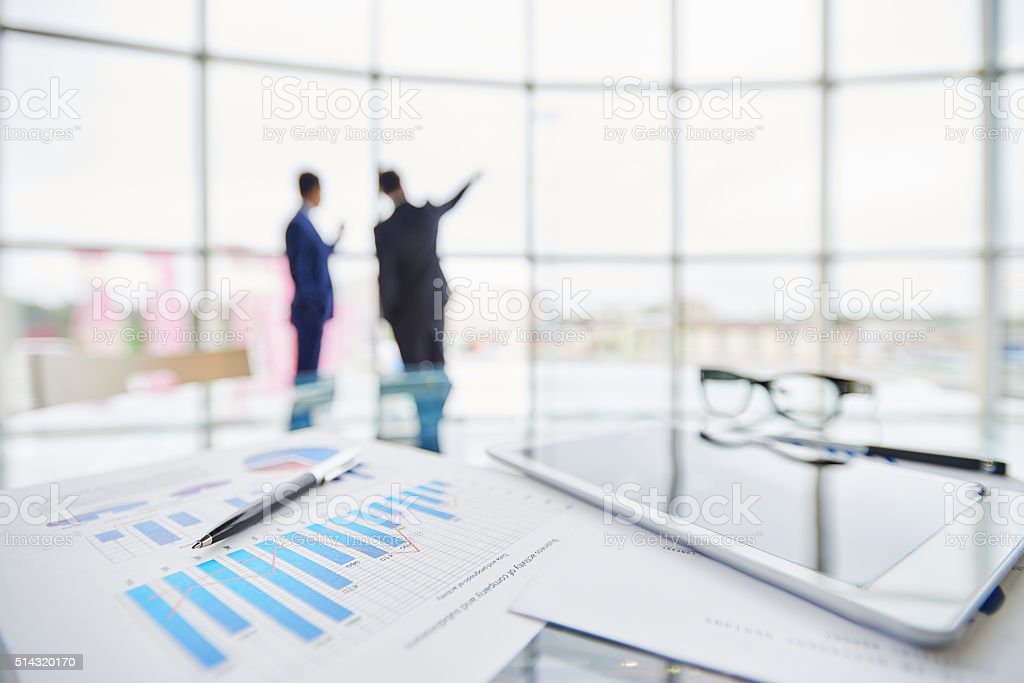 Business report stock photo