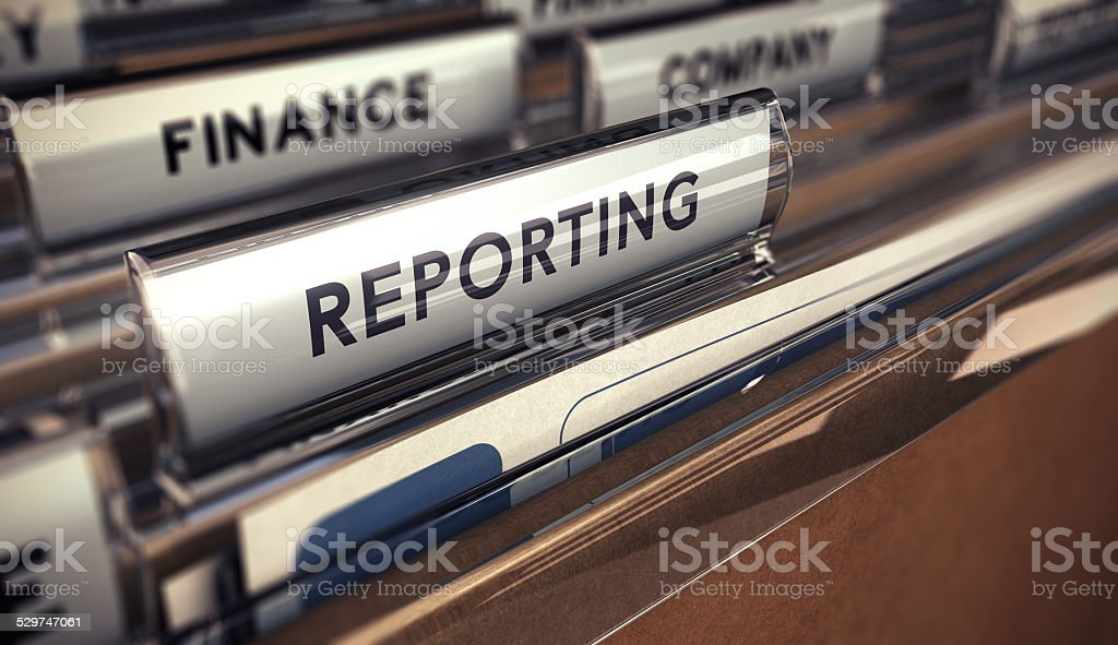 Business reporting stock photo