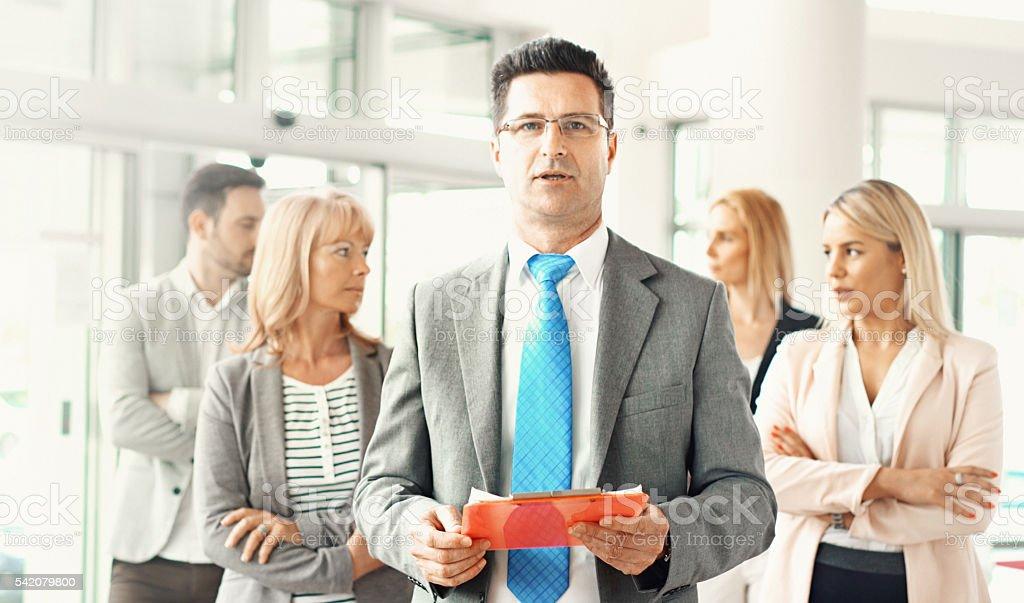 Business representative. stock photo