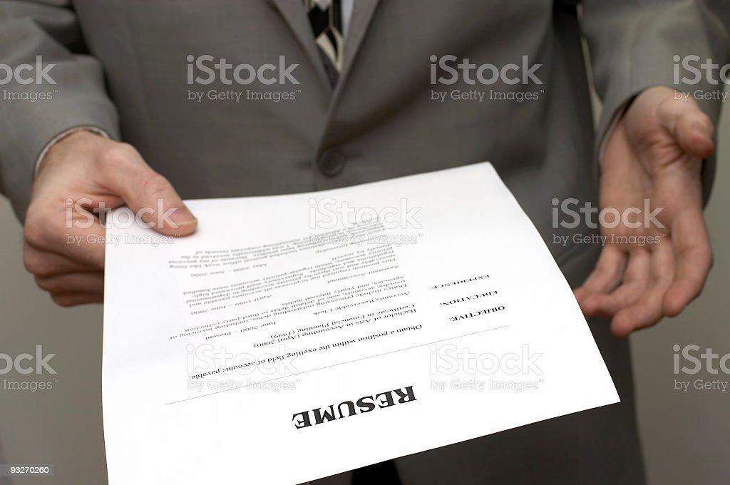 Business Resume #1 royalty-free stock photo