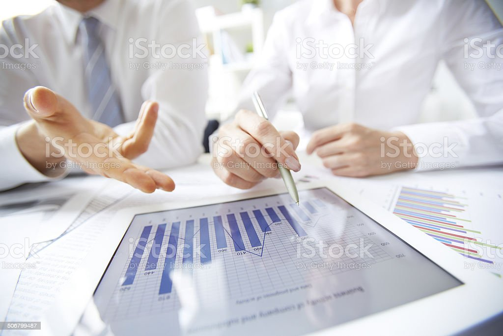 Business review stock photo
