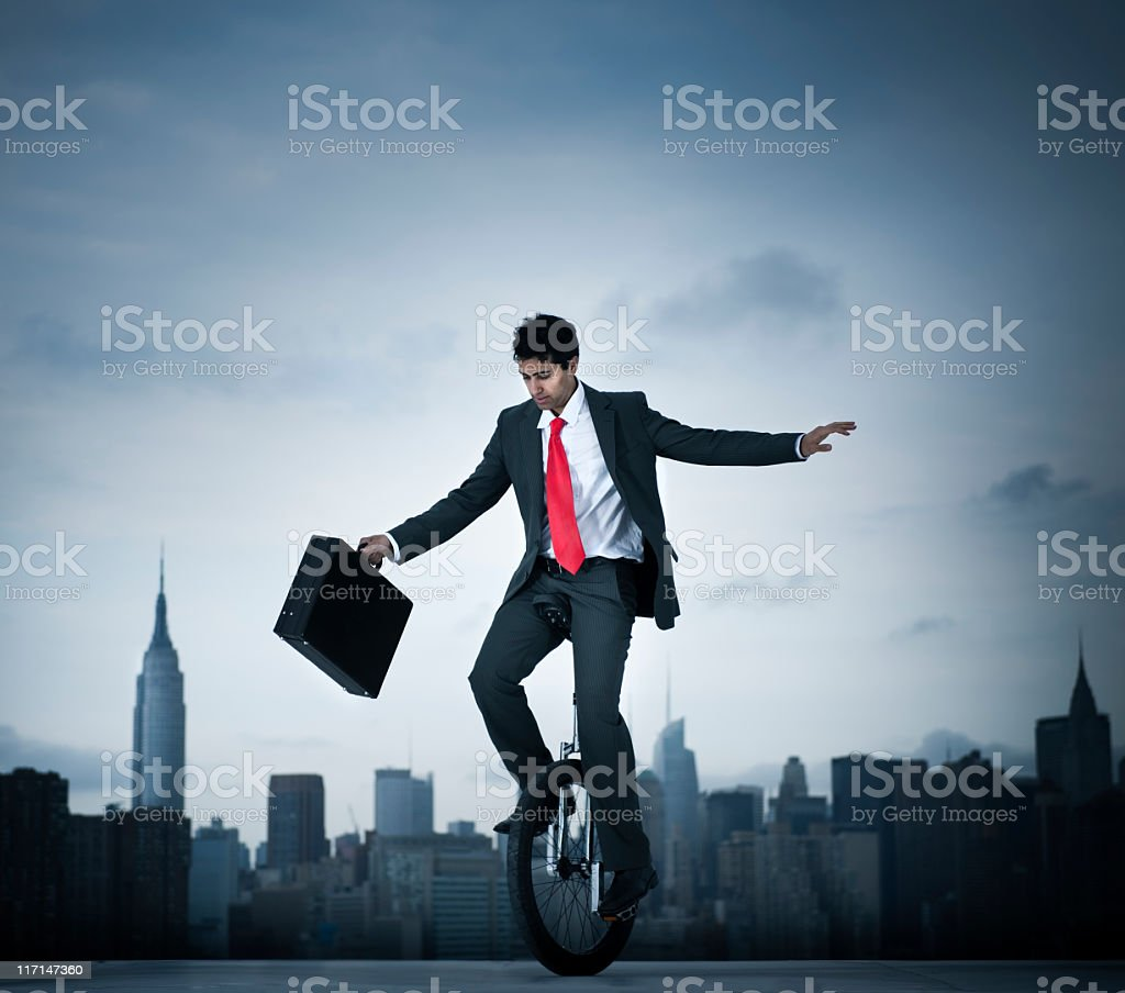 Business risk In the City stock photo