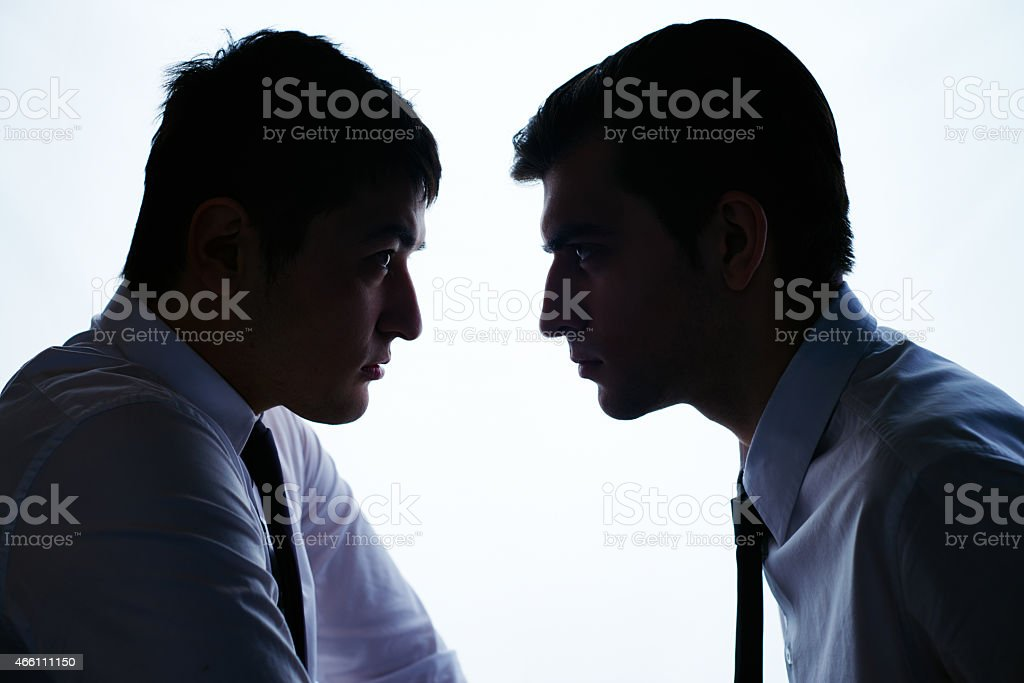 Business rivals stock photo