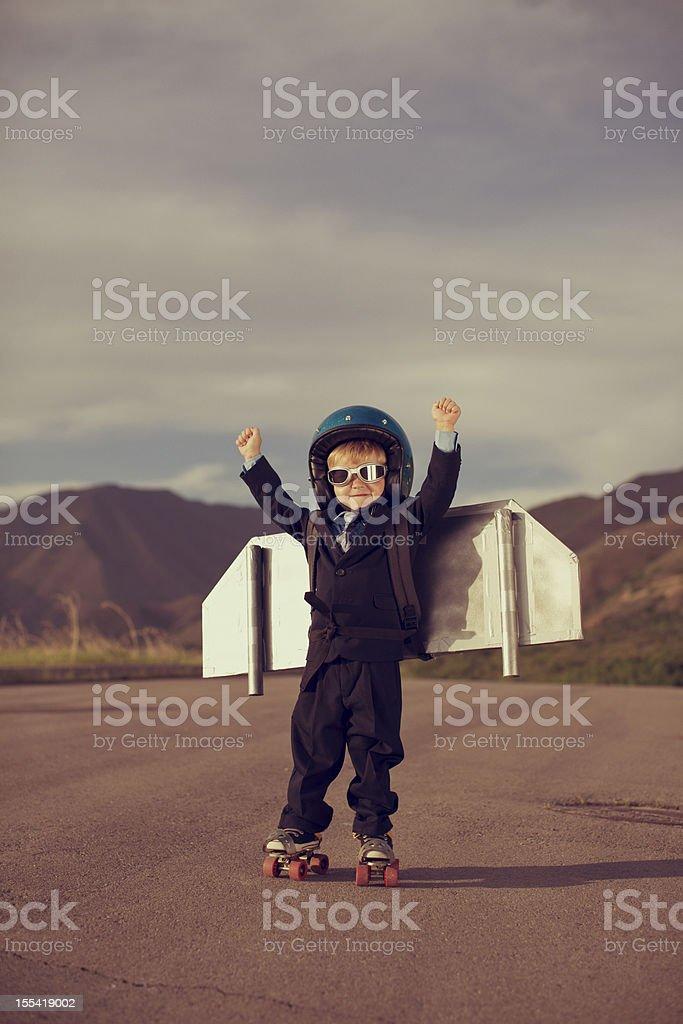 Business Rocket royalty-free stock photo