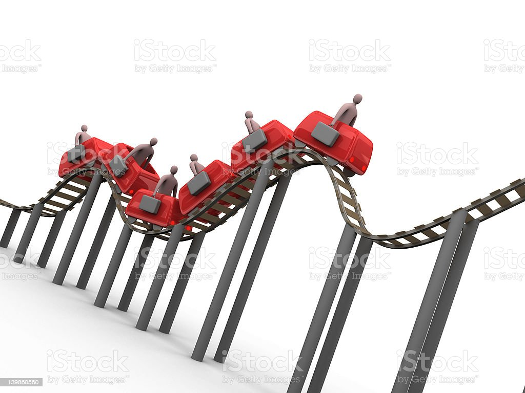 Business Rollercoaster #3 royalty-free stock photo